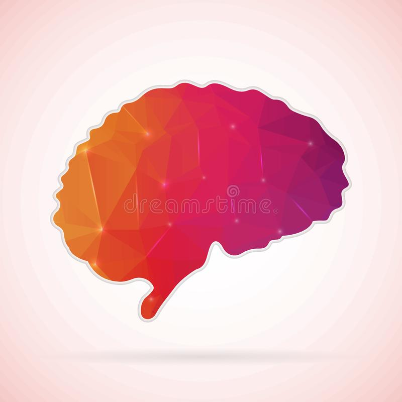 Abstract Creative concept icon of Brain for Web and Mobile Applications isolated on background. illustration template design,. Business infographic and social stock illustration