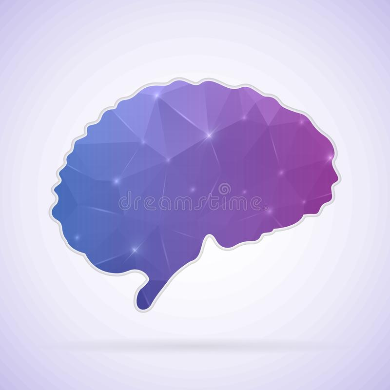 Abstract Creative concept icon of Brain for Web and Mobile Applications isolated on background. illustration template design,. Business infographic and social vector illustration