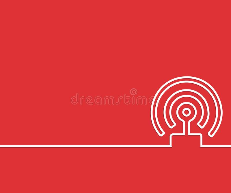 Abstract creative concept line draw background for web, mobile app, illustration template design, business infographic, page,. Brochure, banner, presentation royalty free illustration