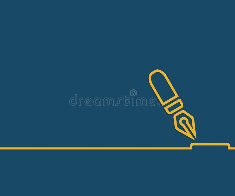 Abstract creative concept line draw background for web, mobile app, illustration template design, business infographic, page,. Brochure, banner, presentation vector illustration