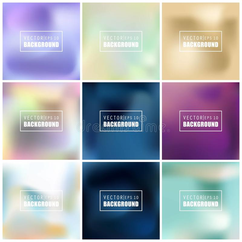 Free Abstract Creative Concept Vector Multicolored Blurred Background Set. For Web And Mobile Applications, Art Illustration Royalty Free Stock Photos - 100011628