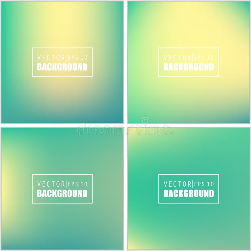 Abstract Creative concept vector multicolored blurred background set. For Web and Mobile Applications, art illustration. Template design, business infographic stock illustration