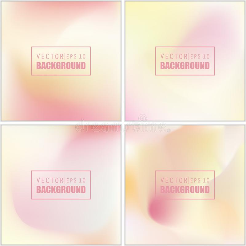 Abstract Creative concept vector multicolored blurred background set. For Web and Mobile Applications, art illustration. Template design, business infographic vector illustration