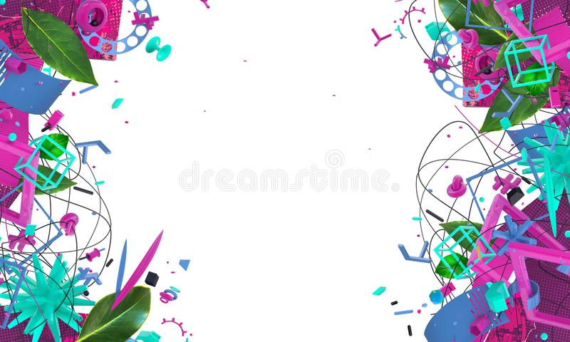 Abstract creative frame stock images