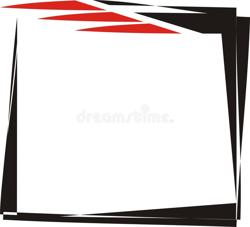 Abstract Creative Frame Design vector illustration
