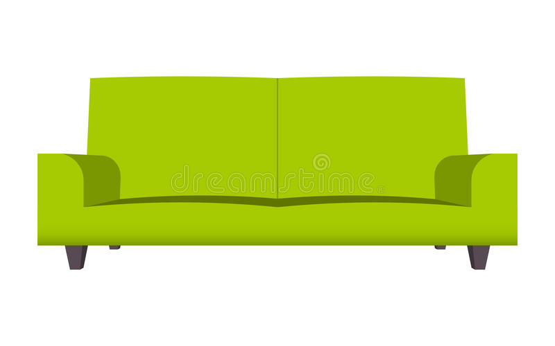 Abstract creative funny cartoon sofa set isolated on for Funny sofa pictures