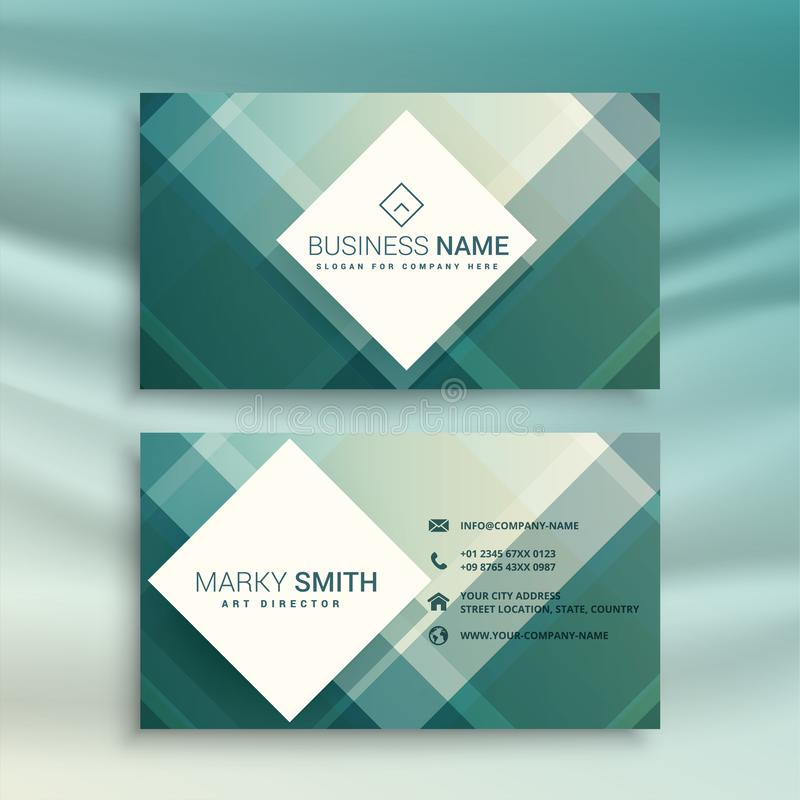Abstract creative geometric business card template design royalty free illustration