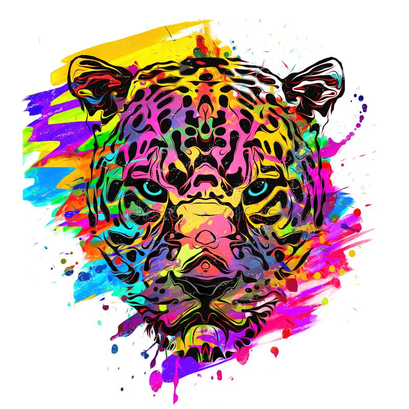 Free Abstract Creative Illustration With Colorful Tiger Stock Photography - 191764972