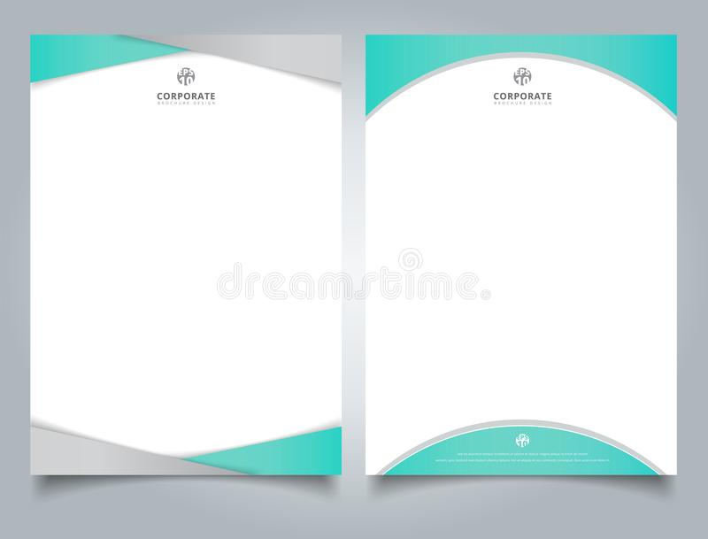 Abstract creative letterhead design template light blue color ge stock illustration