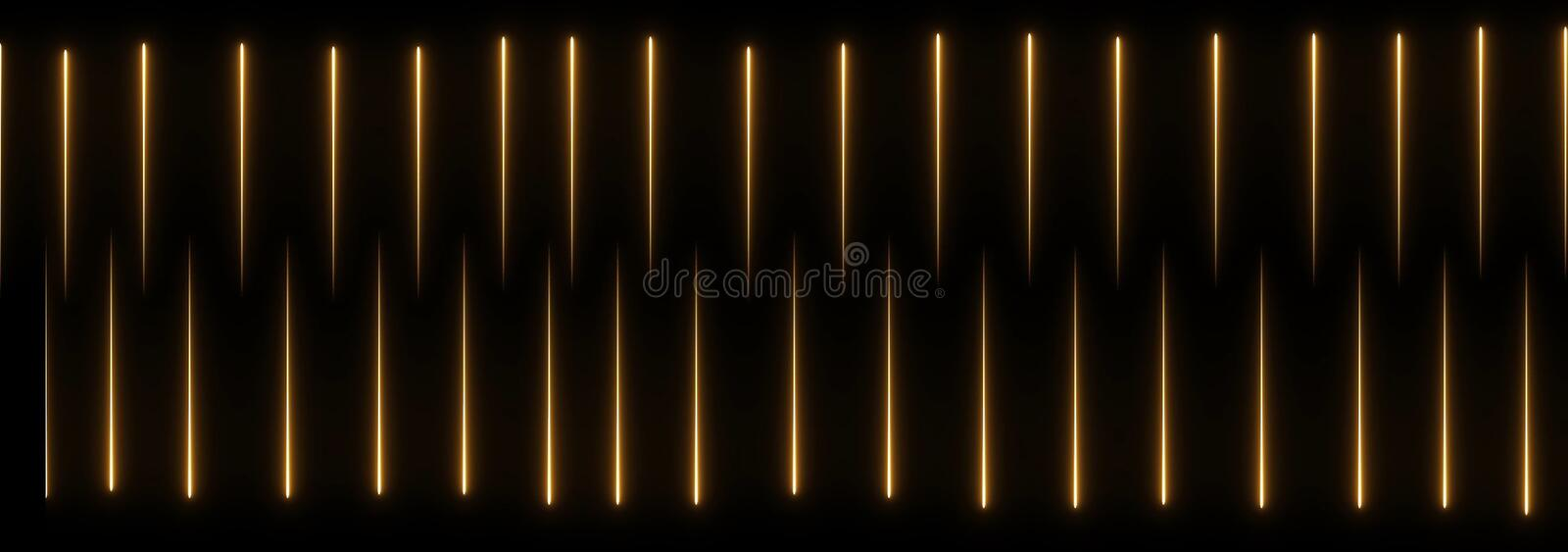 Abstract creative neon laser led lines. Retro disco, club neon sound wave show background. Colorful shiny ultraviolet borders stock illustration