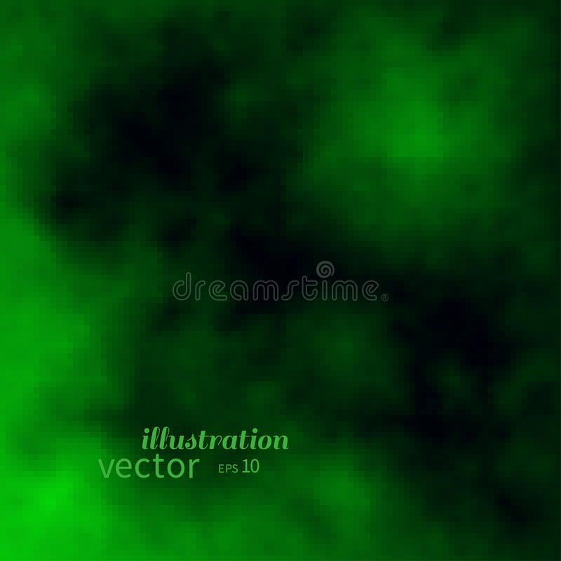 Abstract creen and black clouds or fire flames. Colorful vector background stock illustration