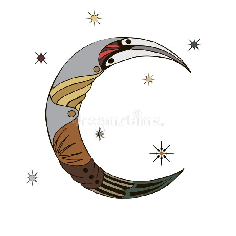 Abstract Crescent stock photography