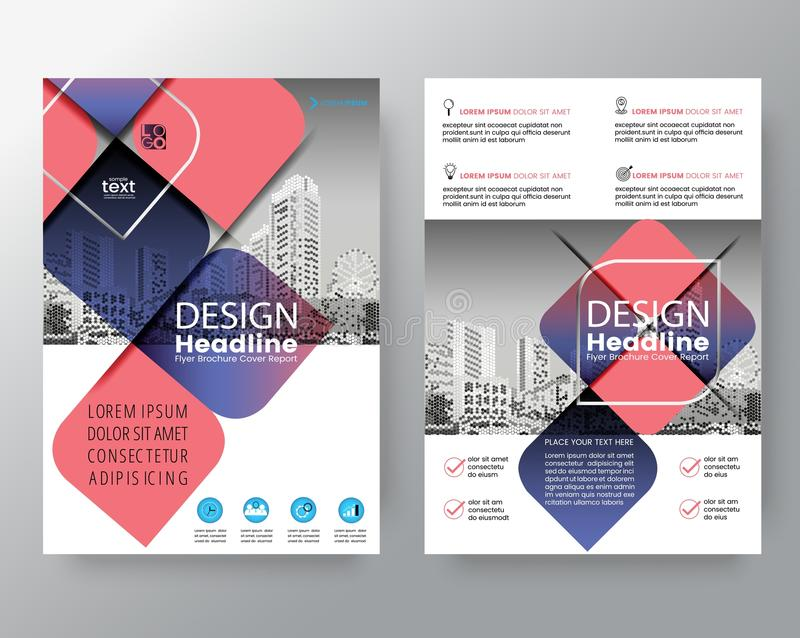 Abstract Cross diagonal square shape with purple and pink color. Graphic element background for brochure cover flyer poster design vector illustration