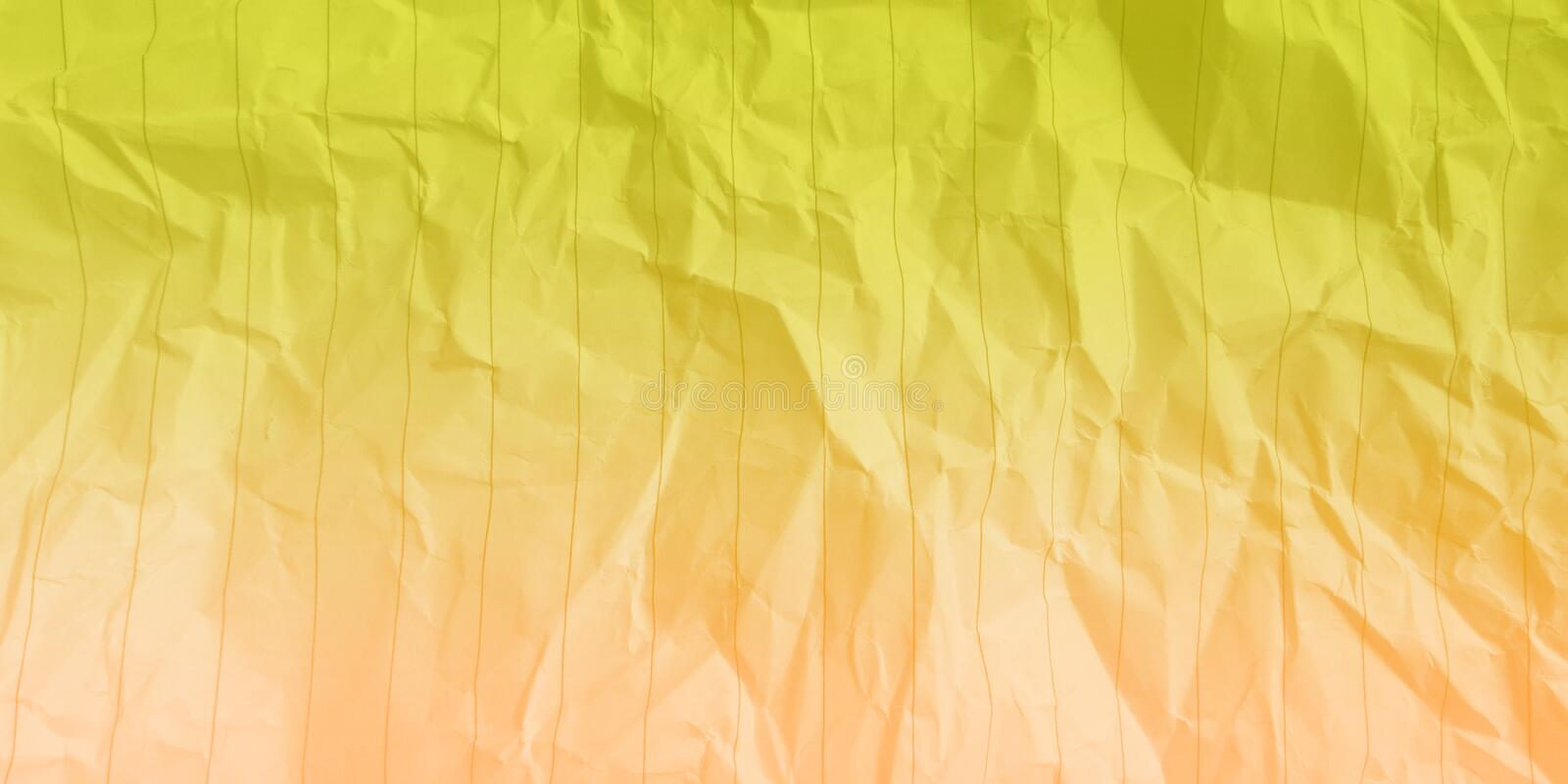 Abstract crumpled paper banana yellow sand color multi colors effects background. Many uses for advertising, book page, paintings, printing, mobile wallpaper stock photography