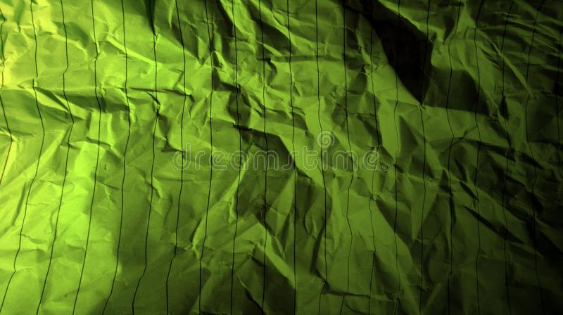 Abstract crumpled paper black martian green color mixture multi colors effects background. royalty free stock photos