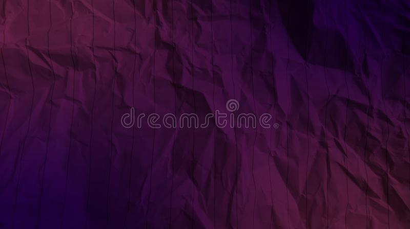 Abstract crumpled paper crimson color, deep navy blue color mixture multi colors effects background. royalty free stock photography