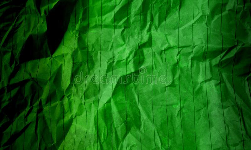 Abstract crumpled paper dark green light green color texture background marble pattern Interiors wall design. Many uses for advertising, book page, paintings stock photo