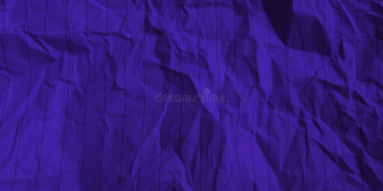 Abstract crumpled paper deep azure color multi colors effects background. royalty free stock image