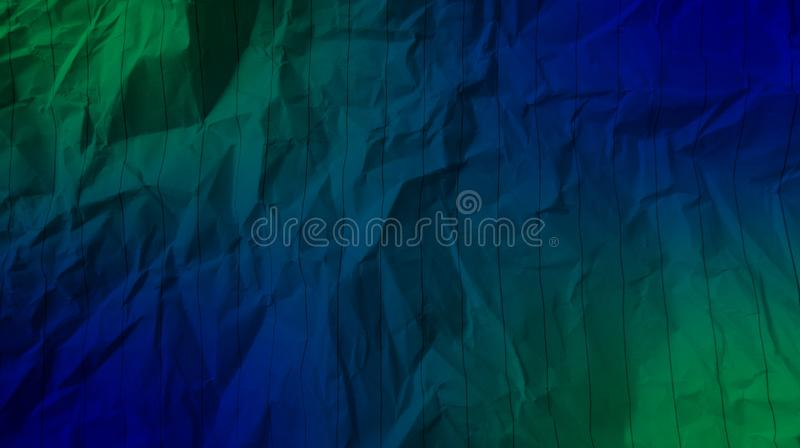 Abstract crumpled paper green color, blue color, mixture multi colors effects background. royalty free stock photography