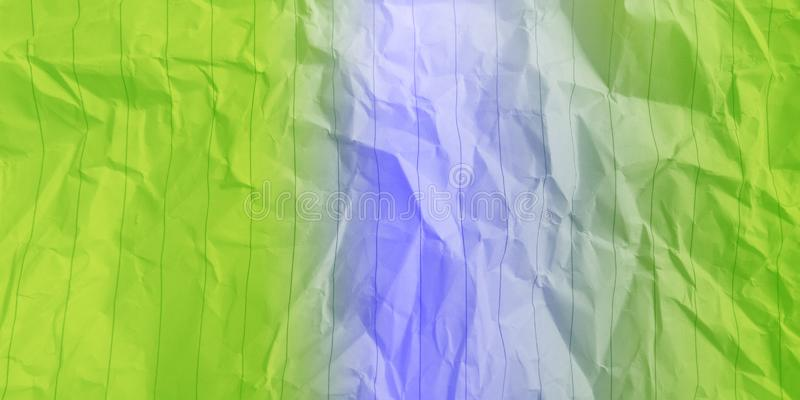 Abstract crumpled paper light green sky blue color multi colors effects background. stock images