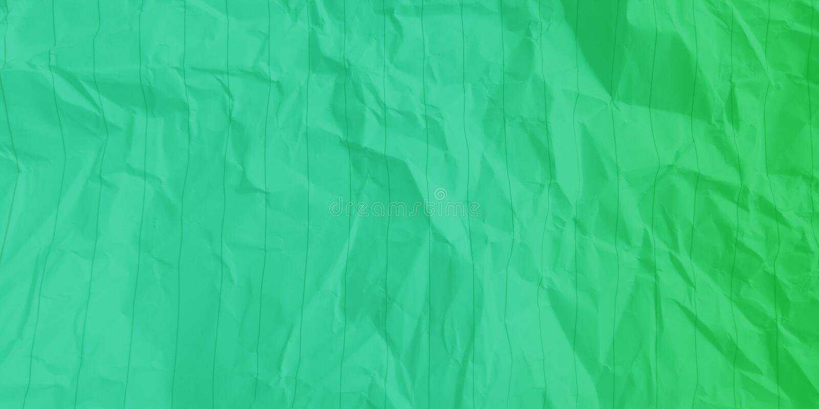 Abstract crumpled paper ocean green grass green color multi colors effects background. royalty free stock photography