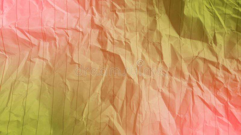 Abstract crumpled paper soft pink color, olive color mixture multi colors effects background. royalty free stock photography