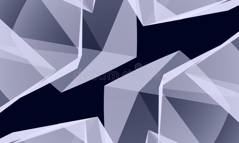 Abstract crystal vector illustration