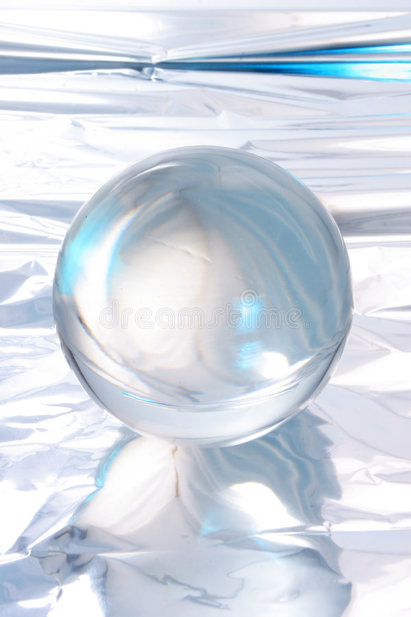 Abstract crystal ball. Abstract light around a crystal ball royalty free stock photo