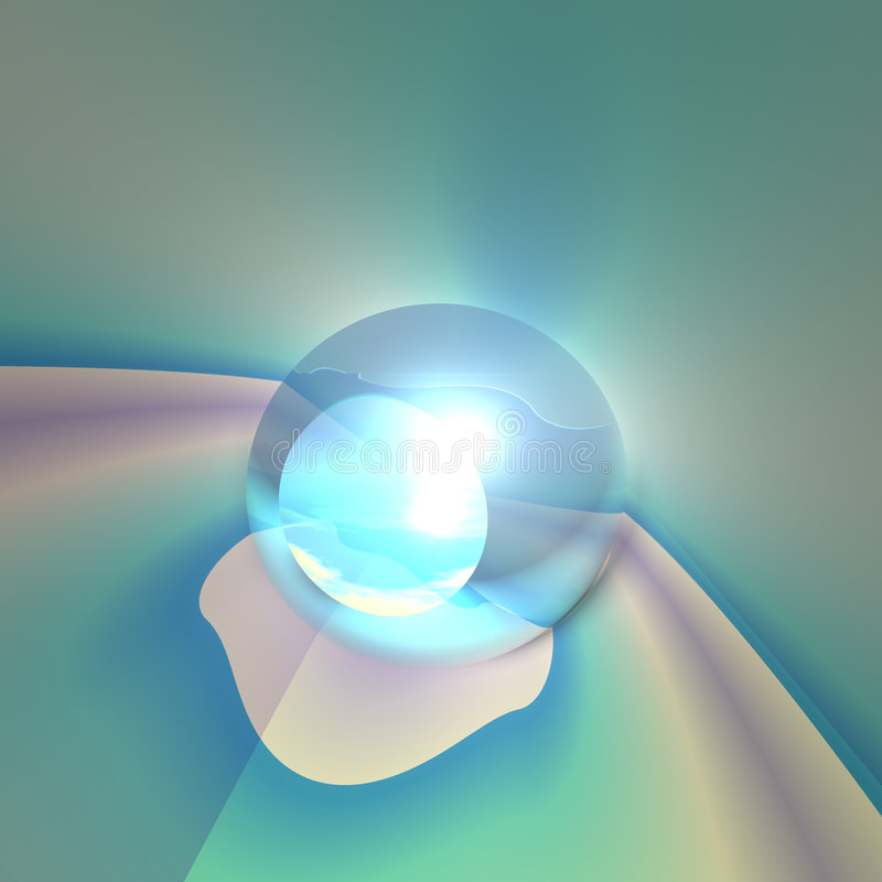 Download Abstract Crystal Eye stock illustration. Image of forecast - 5975968