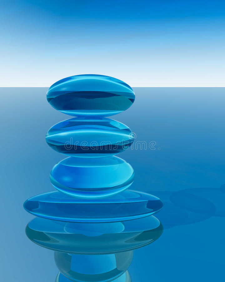Download Abstract Crystal Zen stock illustration. Illustration of cool - 11892443