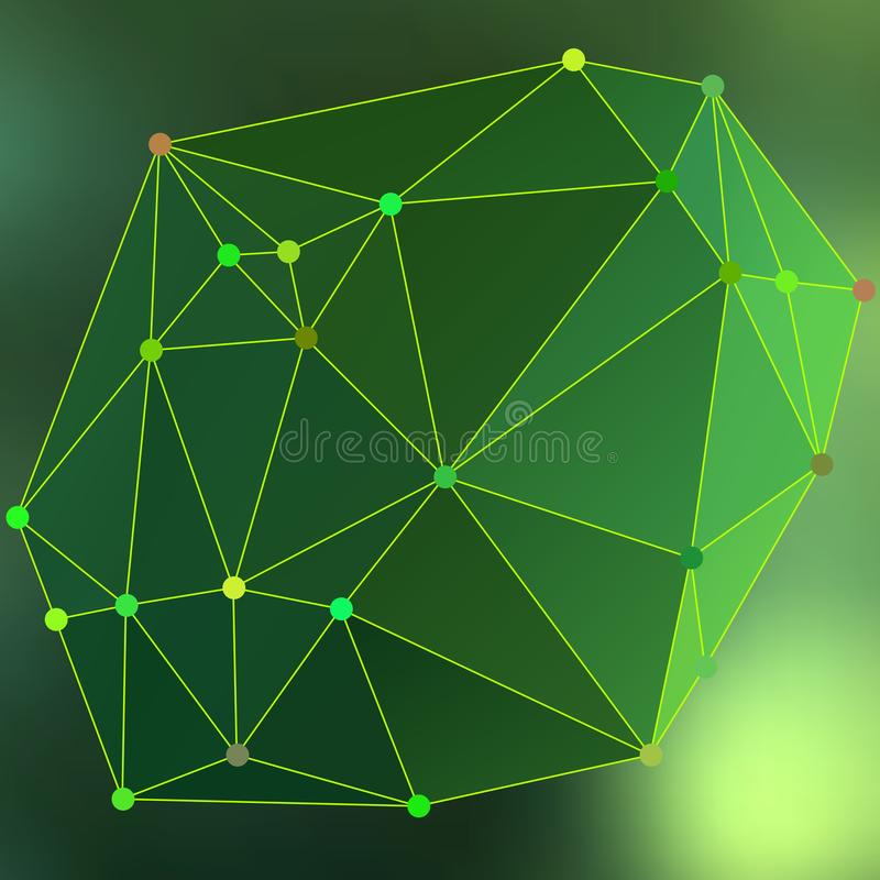 Modern abstract background triangles 3d effect glowing light103 royalty free illustration