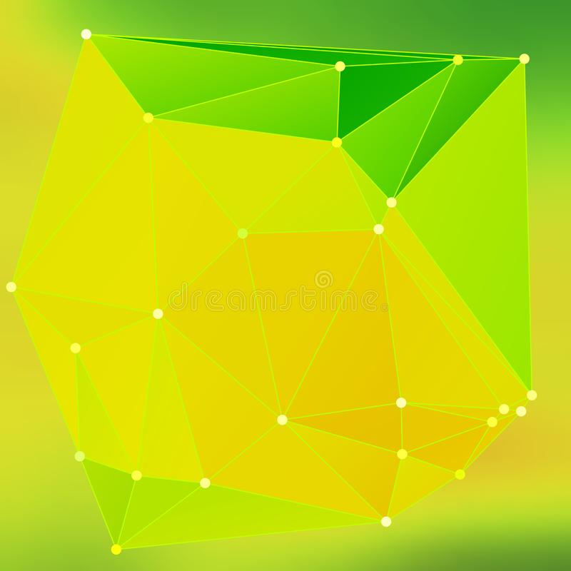 Modern abstract background triangles 3d effect glowing light97 royalty free illustration