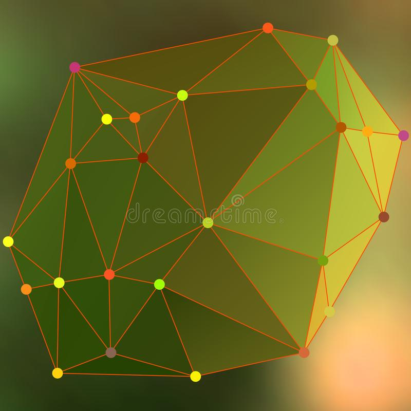 Modern abstract background triangles 3d effect glowing light101 royalty free illustration