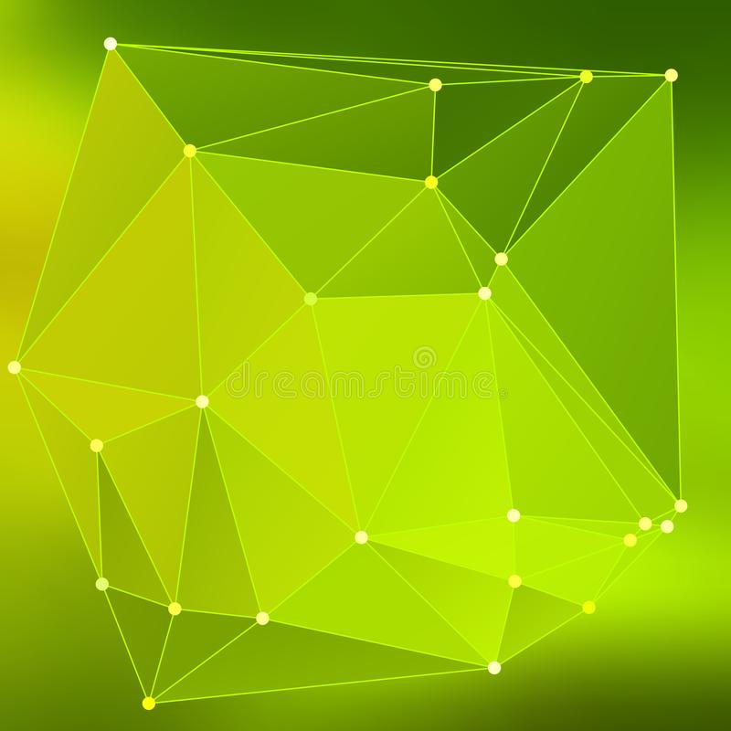 Modern abstract background triangles 3d effect glowing light98 vector illustration