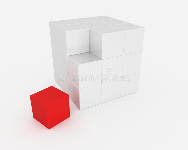 Abstract Cube Royalty Free Stock Images