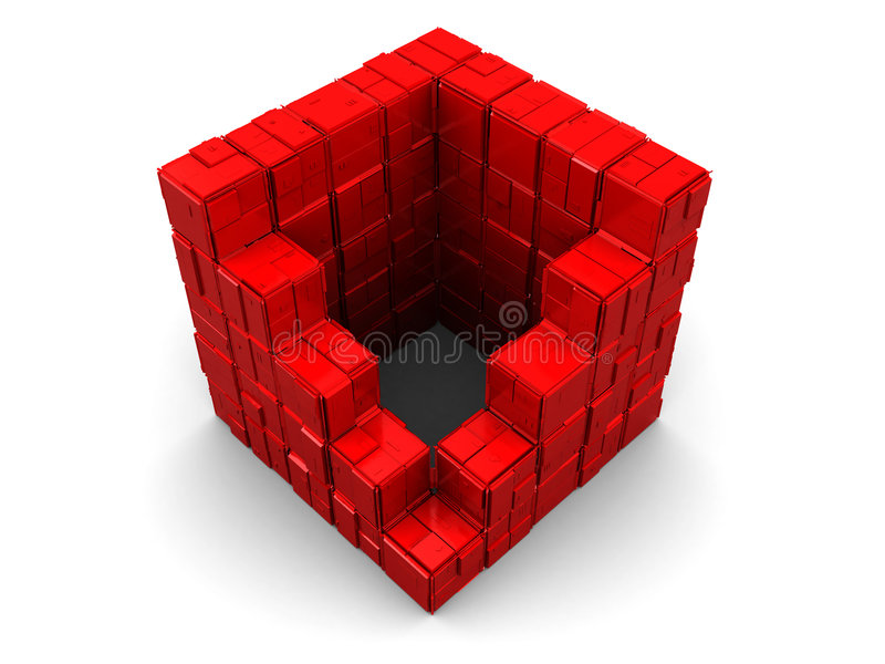 Abstract cube stock illustration