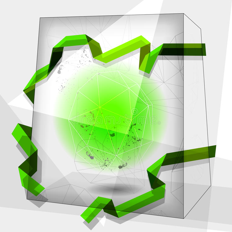 Abstract cube background vector illustration