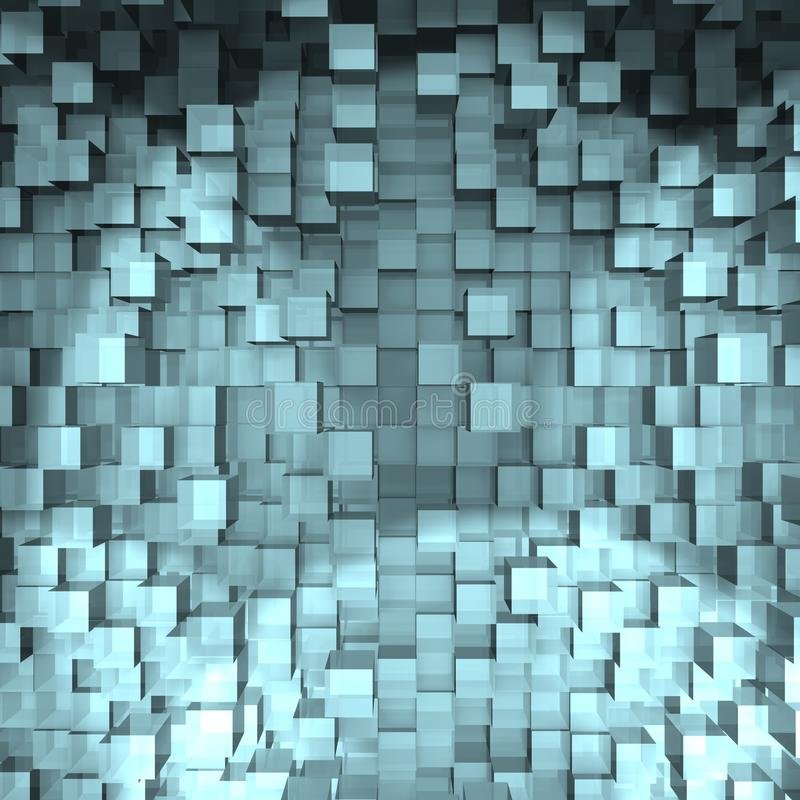 An abstract cube design - a 3d image stock illustration
