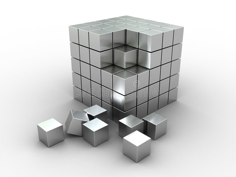 Download Abstract Cube Puzzle Royalty Free Stock Photo - Image: 7309835
