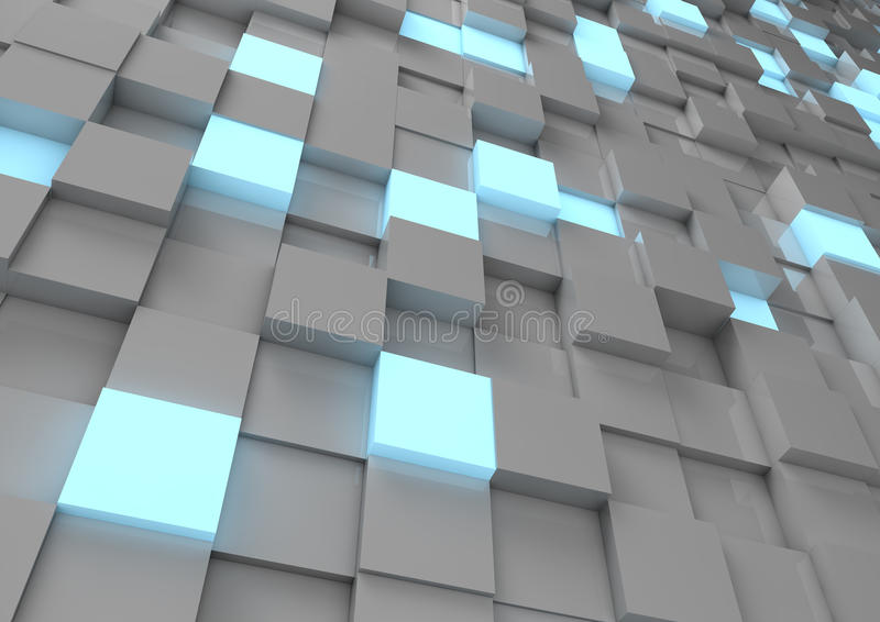 Abstract cube wall vector illustration