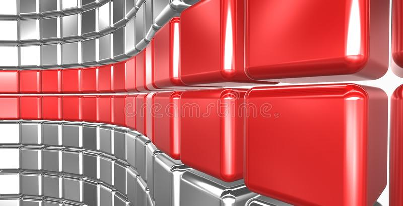 Download Abstract cubes stock illustration. Illustration of banner - 17014697