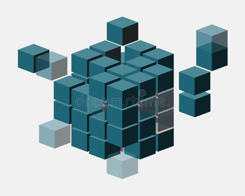 Download Abstract Cubes stock illustration. Image of transparent - 24485199