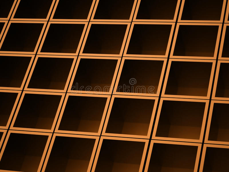 Abstract cubes background rendered. Orange abstract cubes background rendered stock photo