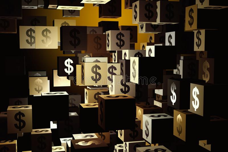 Money and rich concept royalty free illustration