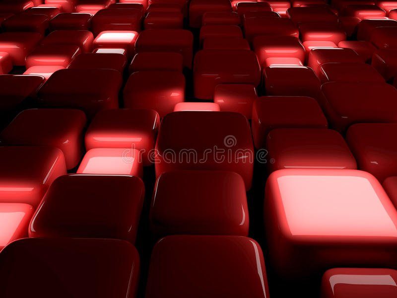 Abstract Cubes Red vector illustration