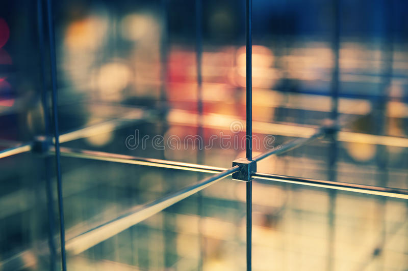 Abstract cubical grid. Closeup of abstract cubical grid stock photos