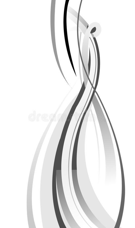 Abstract curve background. Illustration drawing of abstract background about curve stock illustration