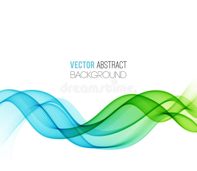 Abstract curved lines background. Template design vector illustration