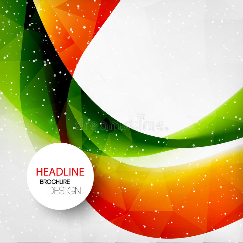 Abstract curved lines background. Template royalty free illustration