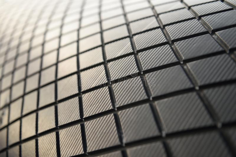 Abstract curved shape pattern of lines, tiles, squares, textures stock photos